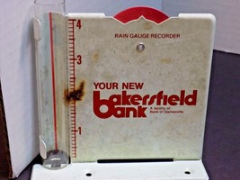 VTG RAIN GAUGE BAKERSFIELD BANK GAINESVILLE MO OZARK CO SIGN METAL & GLA... - $9.50