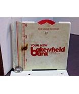 VTG RAIN GAUGE BAKERSFIELD BANK GAINESVILLE MO OZARK CO SIGN METAL & GLA... - $9.50