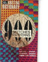 900 STITCHES PATTERNS KNITTING DICTIONARY - $9.99