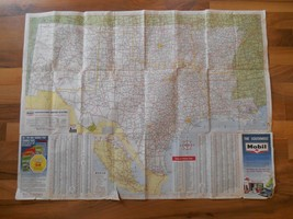 Old Vintage 1963 Southwest Map Mobil Gas Oil Wall Hanging Home Art Decor... - $9.99