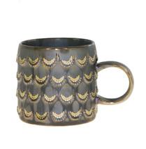 Starbucks Anniversary Brown Gold Scales Siren Relief Ceramic Handle Mug 10oz - $48.50