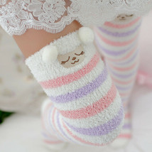 Winter Girl Knee Striped Cute Long Thigh High Socks Compression Warm Sto... - $10.94+
