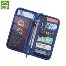 Travel RFID Blocking Card Storage Bag Passport Documents Wallet Organize... - £23.49 GBP