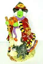 Signature Home Collection Ceramic Figurine Statue Autumn Witch Halloween... - $23.01