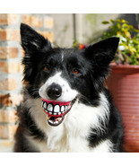 GRINZ BALL Funny Smile Dog  Rubber Treat  Fetch Ball Toy  FLOATS 3 Sizes... - $8.49