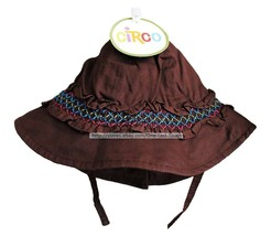 *CIRCO Infant/Toddler Girl BROWN+COLORS Beach/Sun Hat w/CHIN STRAP *YOU ... - $3.47