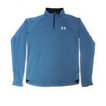 Under Armour Men's  Zip Sweater, Blue/Black, Medium - $24.74