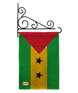 Sao Tome and Principe Burlap - Impressions Decorative Metal Fansy Wall B... - $33.97