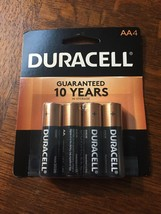 New Duracell Coppertop Alkaline Battery AA 4PK 1.5V - Now with Duralock Energy - $7.15
