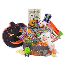 'Ghostly Greetings, Have a Bootiful Halloween' Candy Gift Basket with Pl... - €37,57 EUR