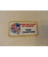 Bowlers Club of Illinois Team Champions Patch from the 90s Gold Border - $7.43