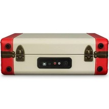 PORTABLE TURNTABLE RECORD PLAYER DELUXE 3 SPEED USB PORT RED WHITE ELVIS PRESLEY image 3