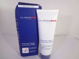 ClarinsMen Active Face Wash Foaming Gel Purifying 4.4 oz **READ** {HB-C} - $21.51