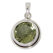 Green Amethyst Sterling Silver Women Collection Pendant Jewelry SHPN0263 - $35.31