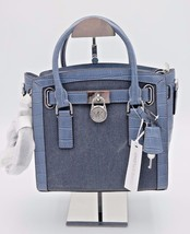 NWT MICHAEL Michael Kors Studio Hamilton Blue Croc East West Small Satch... - $188.00