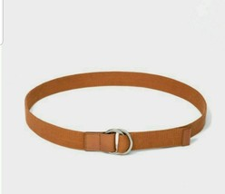 Universal Thread Women's Brown Belt 100% Cotton Canvas w/ Leather Trim S... - $12.69