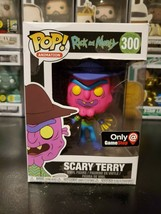 Funko Pop! Rick and Morty Neon Scary Terry #300 Gamestop Exclusive W/ PR... - $31.30