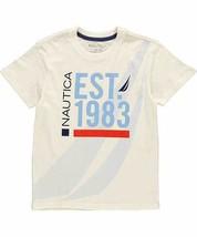 Medium 10/12 Boy's Nautica Tee Short Sleeve T-Shirt Shirt ETO White NEW