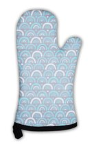 Oven Mitt, Abstract Pattern In Blue - $24.50+