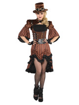 AMSCAN Steamy Dreamy Steampunk Halloween Costume for Women, Small, with Included - $72.85