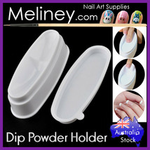Dip Powder Holder French Nail Tip Tool Tray Box Acrylic SNS Container Ma... - $9.42+