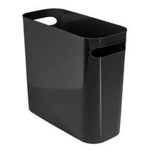 """InterDesign Una Wastebasket Trash Can 10"""", Black 93012 - $13.26"""