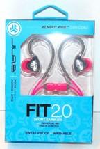 JLab Fit 2 Sport Earbuds Sweatproof Water Resistant with In-Wire Earhook... - $13.78
