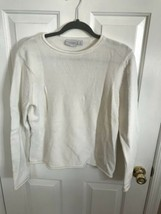 Women's  Sonoma White Crew Neck Sweater Medium - $2.00