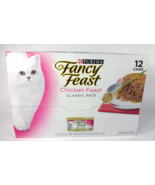 Purina Fancy Feast Chicken Feast Classic Pate Wet Cat Food, 3 oz (12 Cans) - $27.79