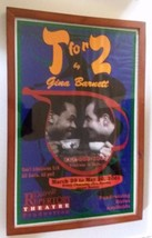 2001 Framed Detroit Rep Theatre Window Card Advertising T for 2 Gina Bar... - $27.74