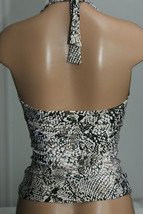 NEW Calvin Klein Sand Snake Print Bar Halter Tankini Swim Top size M Medium image 2