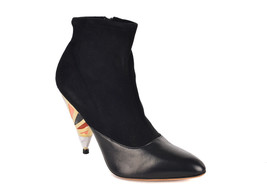 Givenchy Women's Black Leather Suede Prism Heel Ankle Boots 38.5/8.5~RTL... - $945.25