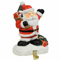 """Cement Christmas Character Stocking Holder Santa 3.5""""X5"""" w - $8.99"""