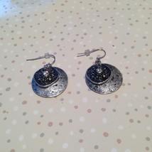 silver toned floral pierced earrings - $19.99