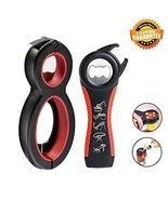 Pack of 2 Jar Bottle Opener Set,6 in 1 Multi Opener and 5 in 1 Can Opene... - $12.09 CAD