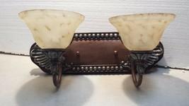 Livex Lighting 8325-17 Vanity with Art Alabaster Glass & Bronze Vintage Accents - $126.06