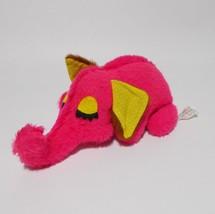 Russ Berrie Pink Elephant Plush Felt Eyes Yarn Tail 1974 - $39.59