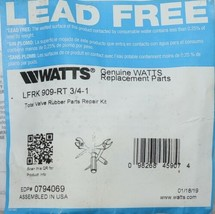 Watts LFRK909 RT Total Valve Rubber Parts Repair Kit 0794069 image 2