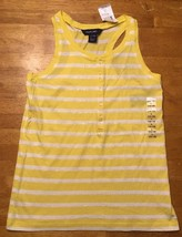 NWT Ralph Lauren Girl's Yellow & White Striped Sleeveless Shirt - Large 12/14 image 1