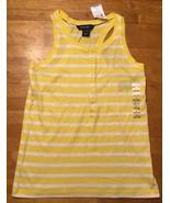 NWT Ralph Lauren Girl's Yellow & White Striped Sleeveless Shirt - Large ... - $17.81