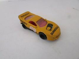 MATTEL HOT WHEELS DIECAST 1993 YELLOW RACE CAR DURACELL #88  - $3.87