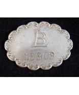 "VINTAGE PEARL CMP SILVER emblem icon LB 18303 engraving 1.25"" W .5""T .50... - $13.09"