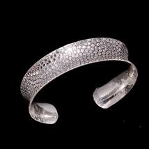 925 Soild Sterling Silver Handcuff Snake Skin Fine Unisex Bohemian Jewel... - $43.16