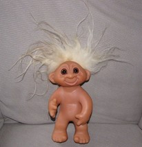 """DAM 1977 TROLL GREAT CRAZY LONG WHITE HAIR 9"""" SMILING MOVING ARM / HEAD - $55.95"""