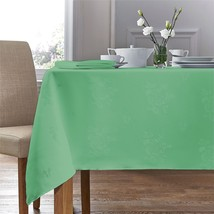 "Woven Damask Rose Sage Green Rectangle Tablecloth 70""X108""(178X274CM)&4 Napkins - $40.92"