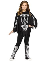 Fun World Little Girl's Poncho Skeleton Ch Costume Up to 14 Childrens Co... - $17.60