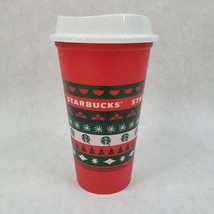 NEW Starbucks Christmas Holiday 2020 Red Hot Cold Plastic Cup Tumbler 11... - $13.85