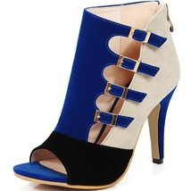 Sale Sexy Women Cutouts Sandals Blue Black Red Ladies High Heel Summer Shoes Hig