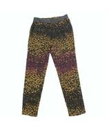 Jessica Simpson Floral Pantalones Mujer TALLA XS Trabajo Informal Negros... - $15.93