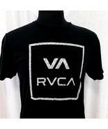RVCA Mens Large Black Tee Shirt White Logo Short Sleeve Artist Network U... - $21.99